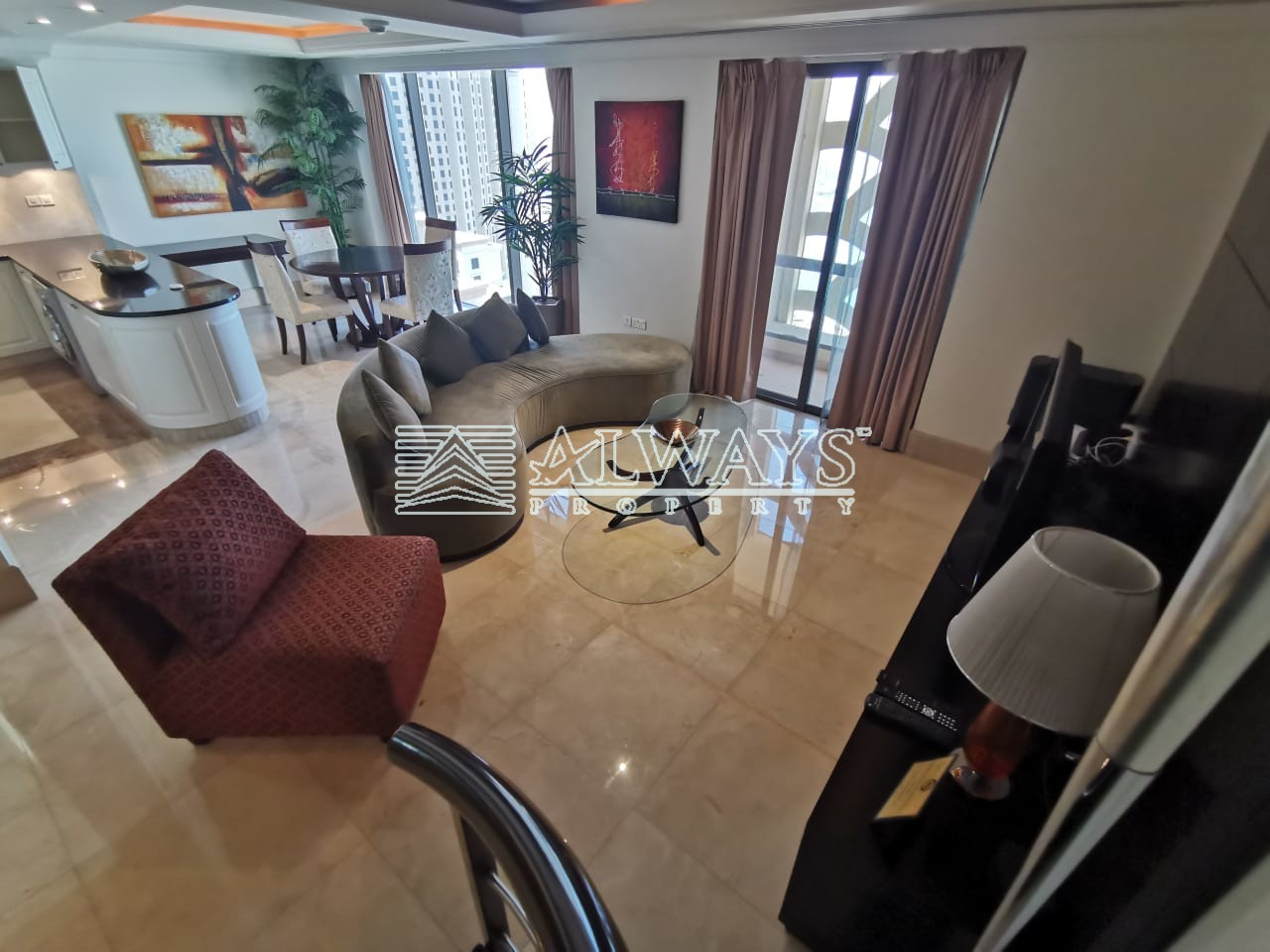 Chiller Free | Furnished 1 BR Penthouse | Sea View