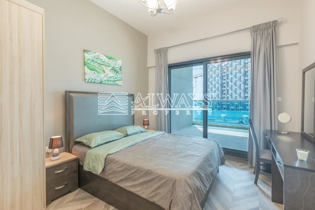 Brand New | Lake View | High Floor | Furnished 1BR